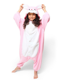 Pink Fluffy Rabbit Kids Onesie