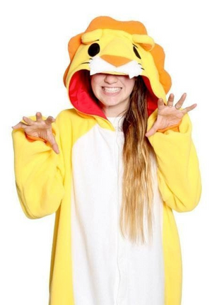 Maximus The Yellow Lion Velvet Onesie | Onesieful