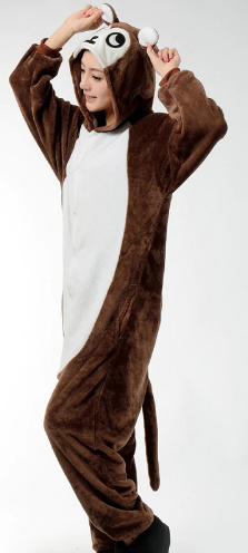 Jungle Monkey Velvet Onesie | Onesieful