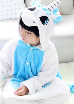 Baby Blue Magical Unicorn Kids Onesie | Onesieful
