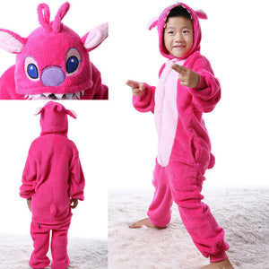 Kids Pink Stitch Onesie | Onesieful