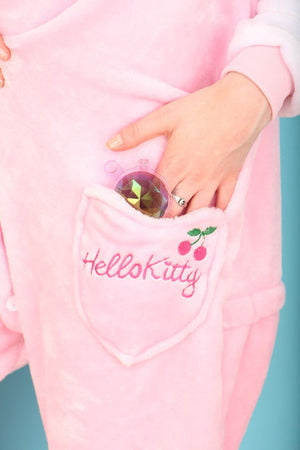 Kids Pink Hello Kitty Onesie | Onesieful