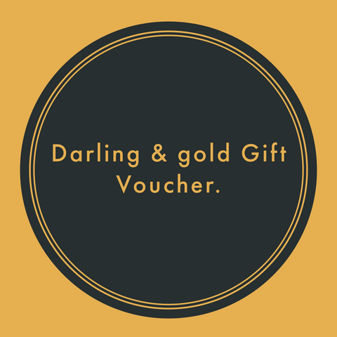 Darling and gold gift voucher.