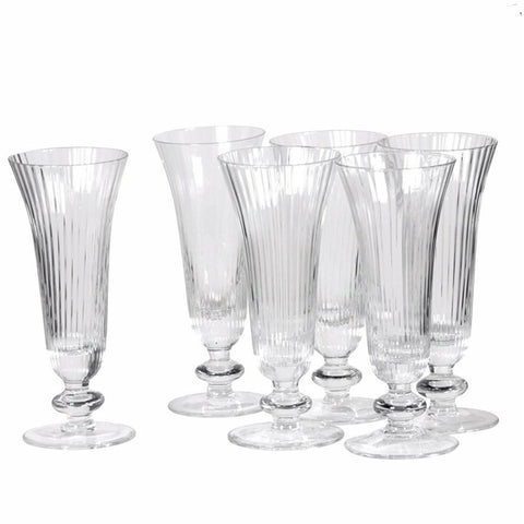 Single Ribbed Flutes Glass