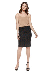 Katie Leaf Printed Pencil Skirt