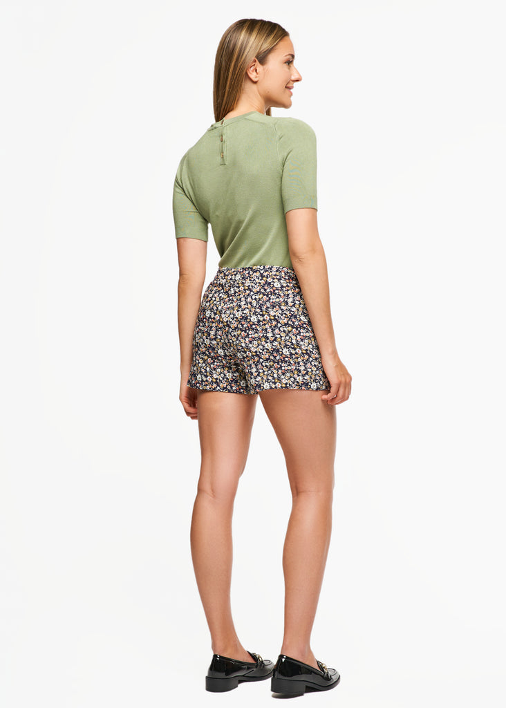 Lily Peach Floral Short