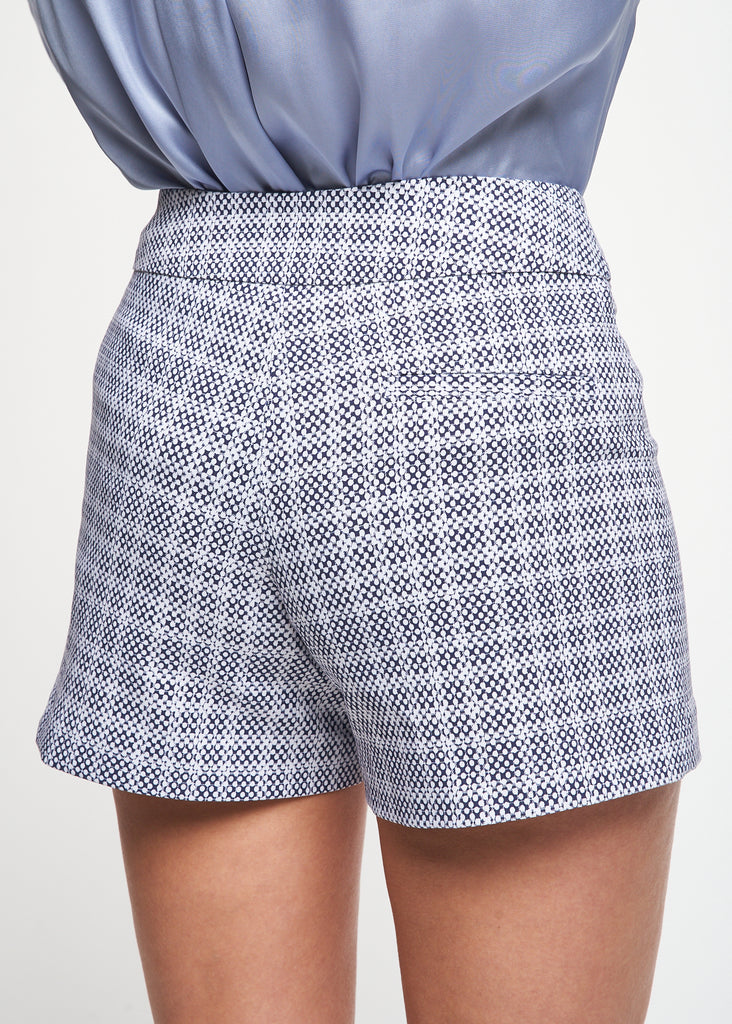 Lily Navy/White Dot Short