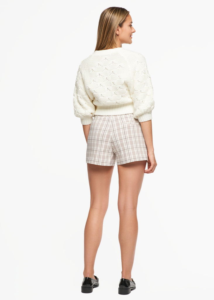Lily Beige Plaid Short