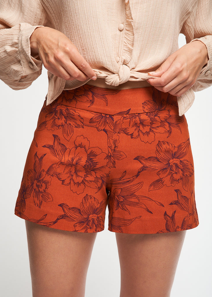 Lily Burnt Orange Flower Short