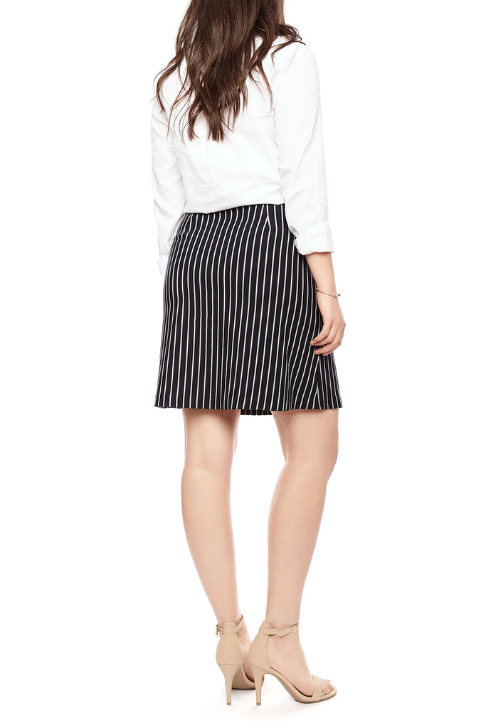 Emily Knit Skirt with thin stripes