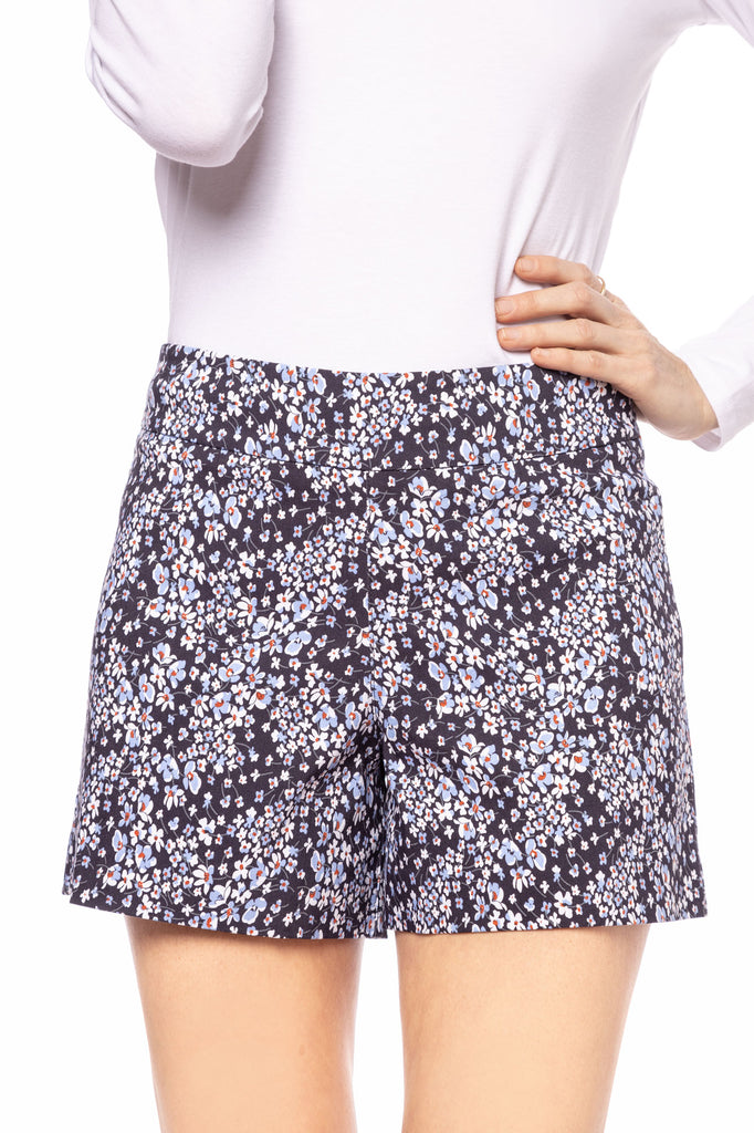 Preorder -Lily Navy Flower Short (Ships Aug 14)