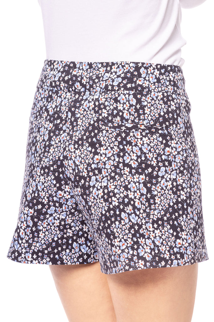 Lily Navy Flower Short