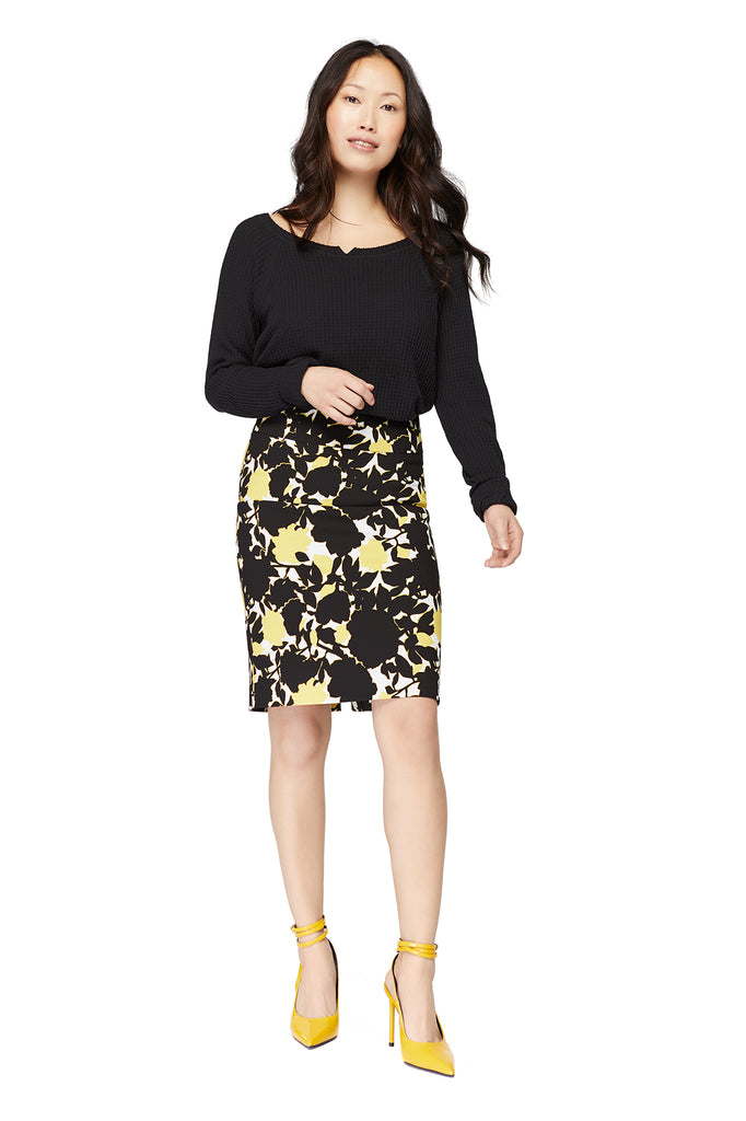 Katie Lemon/Black Pencil Skirt