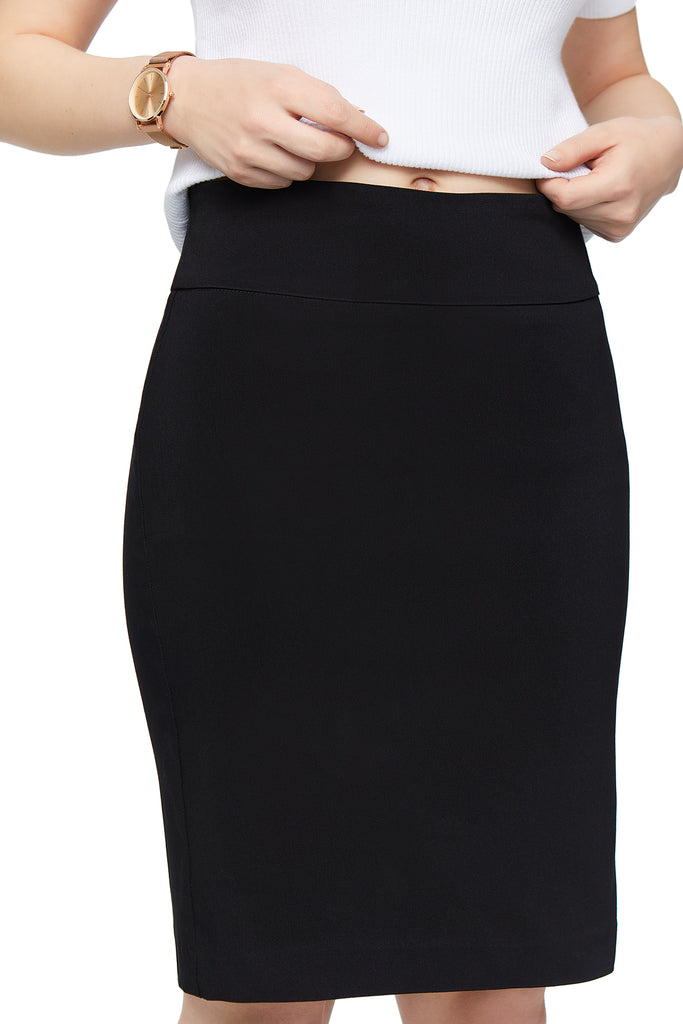 Katie Black Pencil Skirt