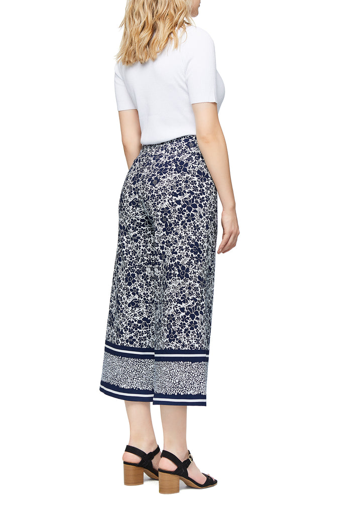 Carrie Wide Leg Border Print