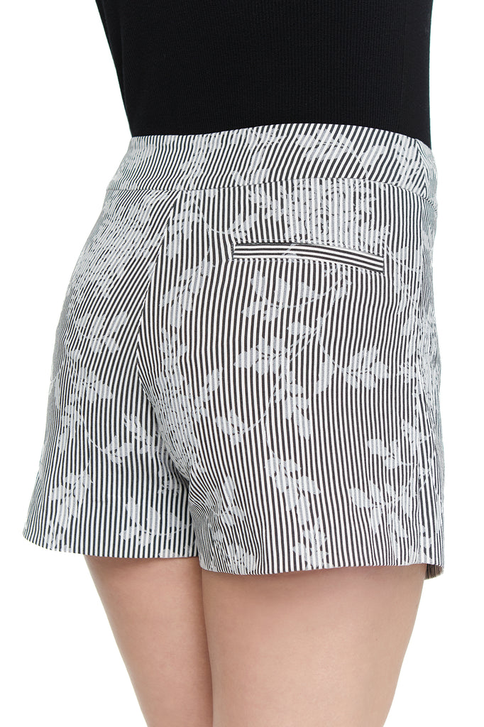 Zoe Flower Stripe Skort