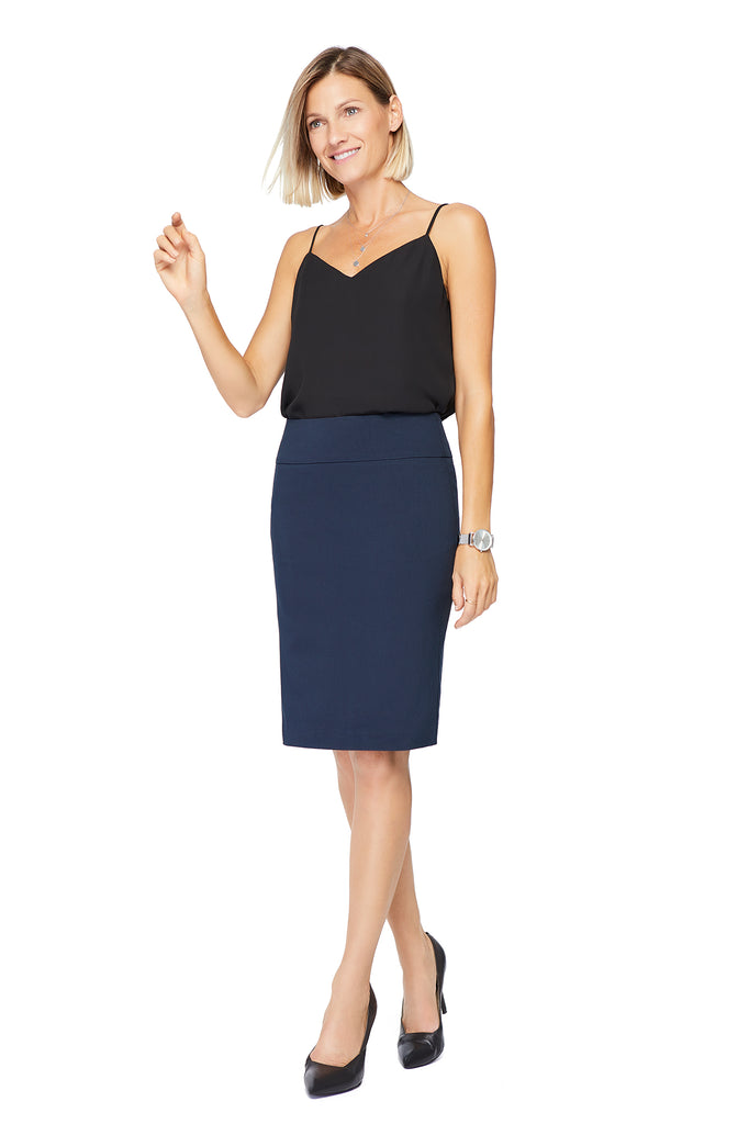 Katie Navy Pencil Skirt