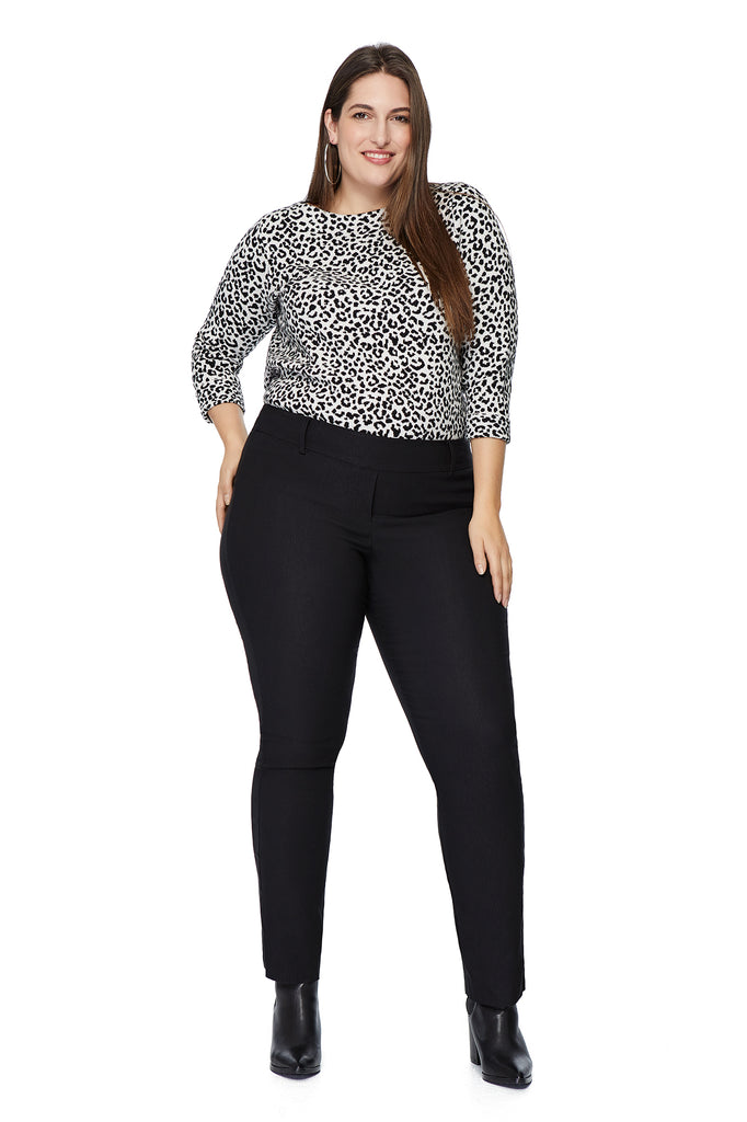 Kelly Bootcut Slimming Pant in Black