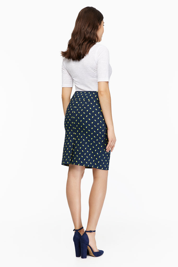 Katie Lemon Navy Skirt