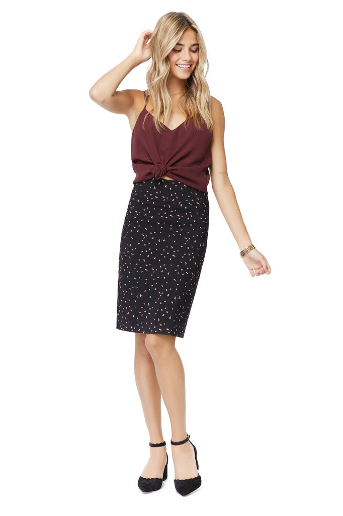 Katie Ditsy Flower Pencil Skirt