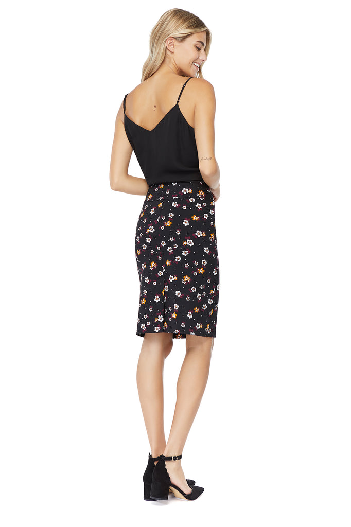 Katie Multi flower Pencil Skirt