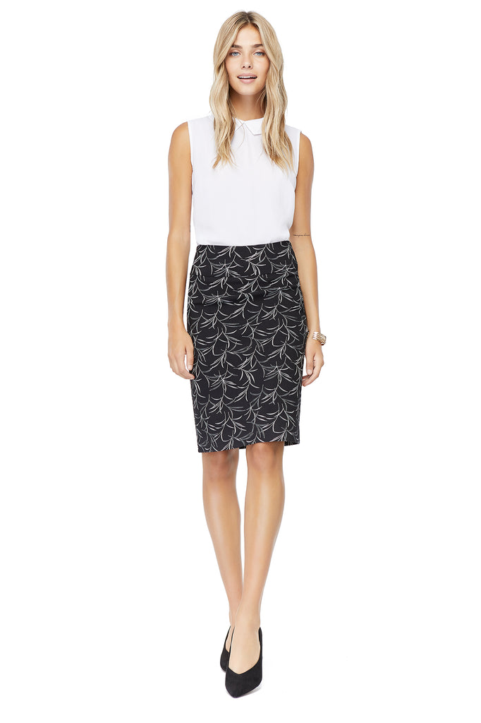 Katie Palm Print Pencil Skirt