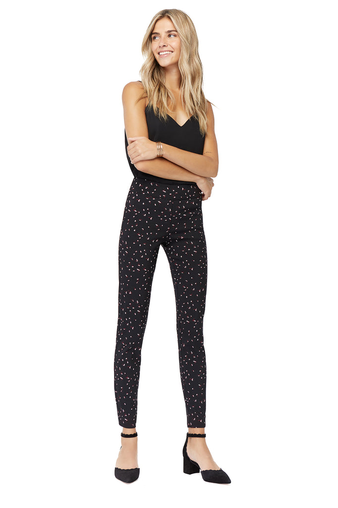 Tracey Ditsy Flower Skinny Slimming Pant