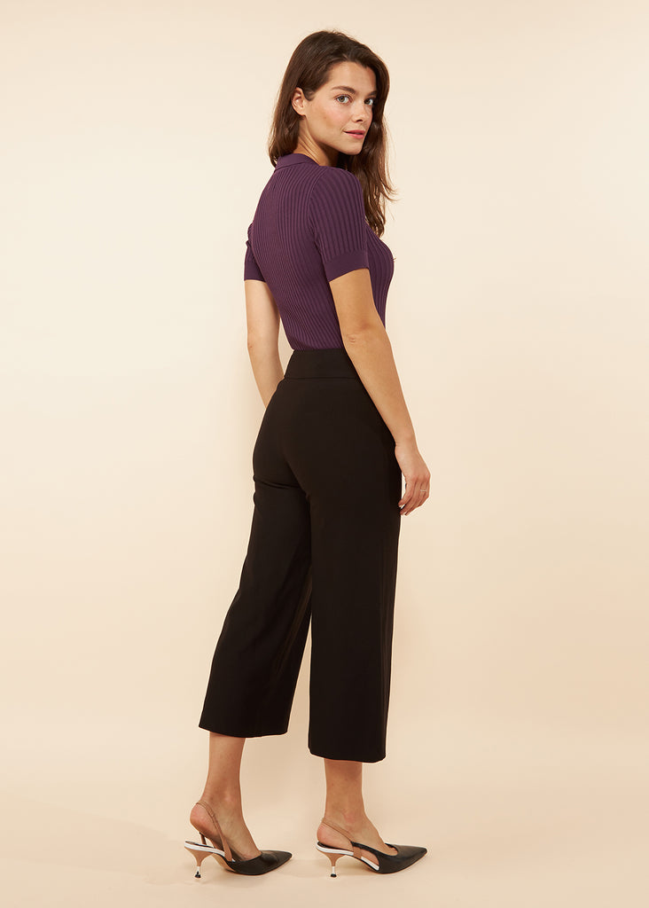 Carrie Black Ponte Wide Leg