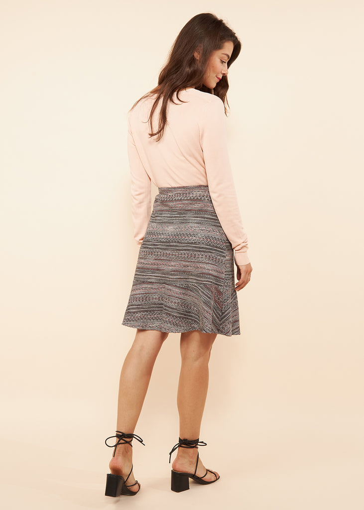 Anna Burgundy Knit Skirt