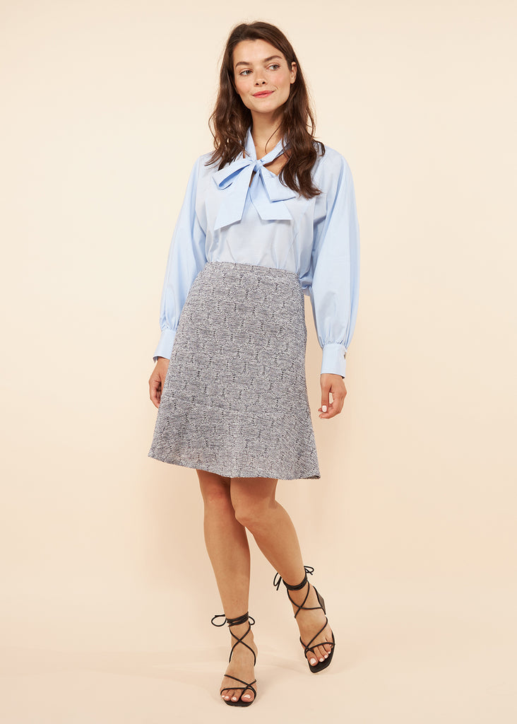 Anna Denim Knit Skirt