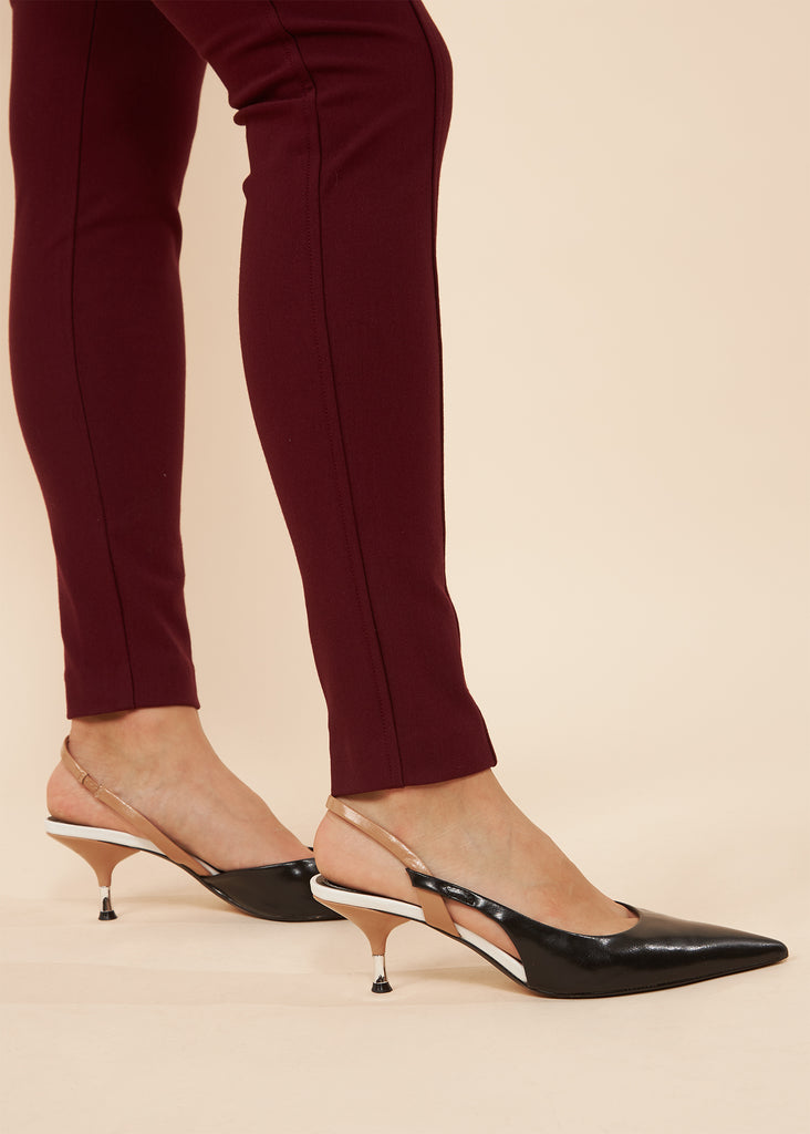 Jessica Wine Biker Pant with size pockets