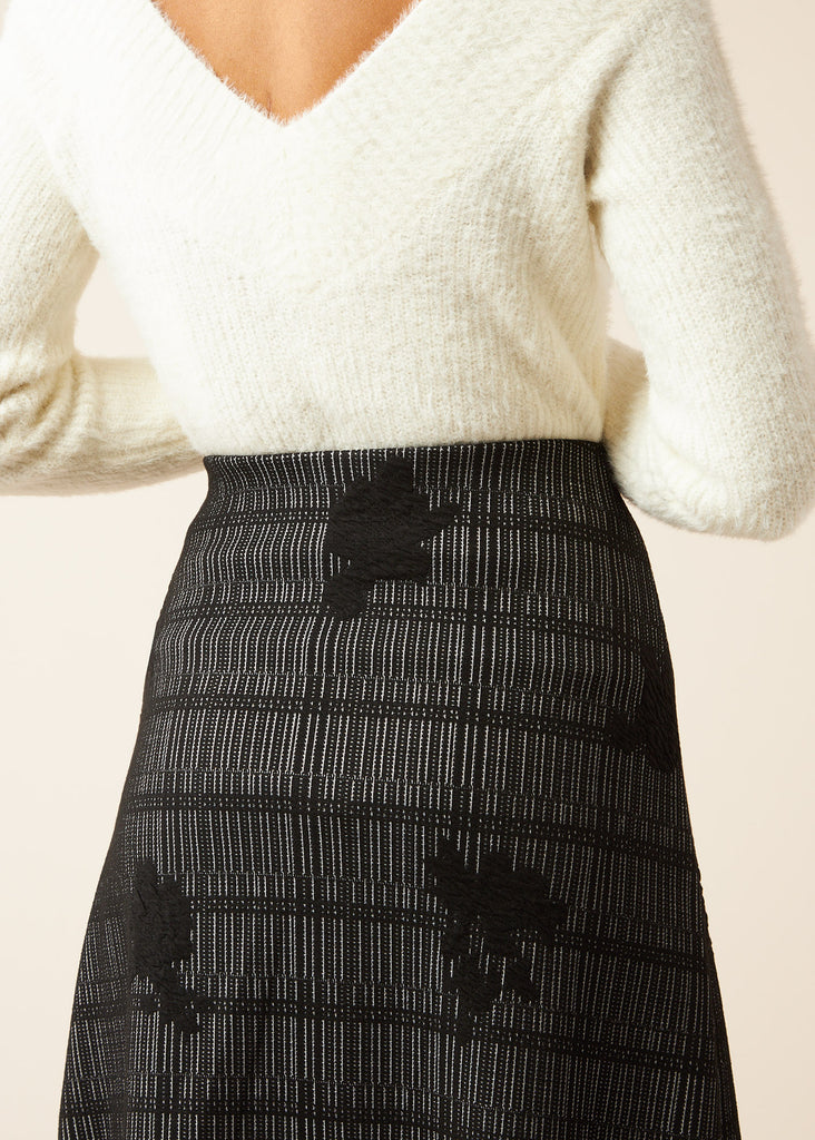 Melissa Embroidered Knit Skirt