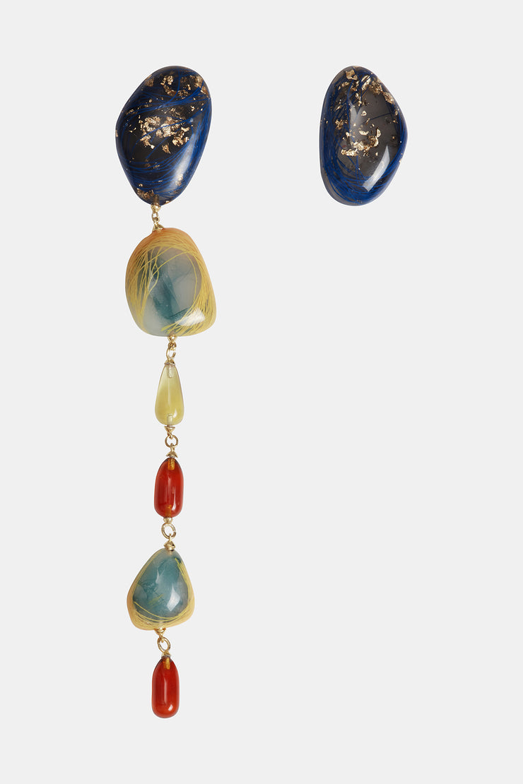 Patter Asymmetric Earrings in Multi
