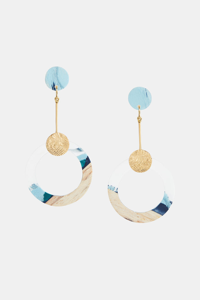 Drop Circle Pendant Earrings Danau
