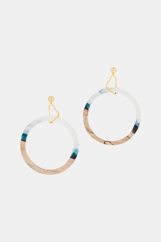 Drop Circle Earrings Danau