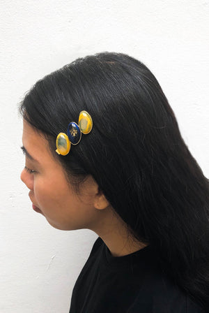 Triple Pebble Hair Clip
