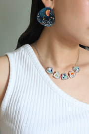 Alma Necklace in Woad & Minium