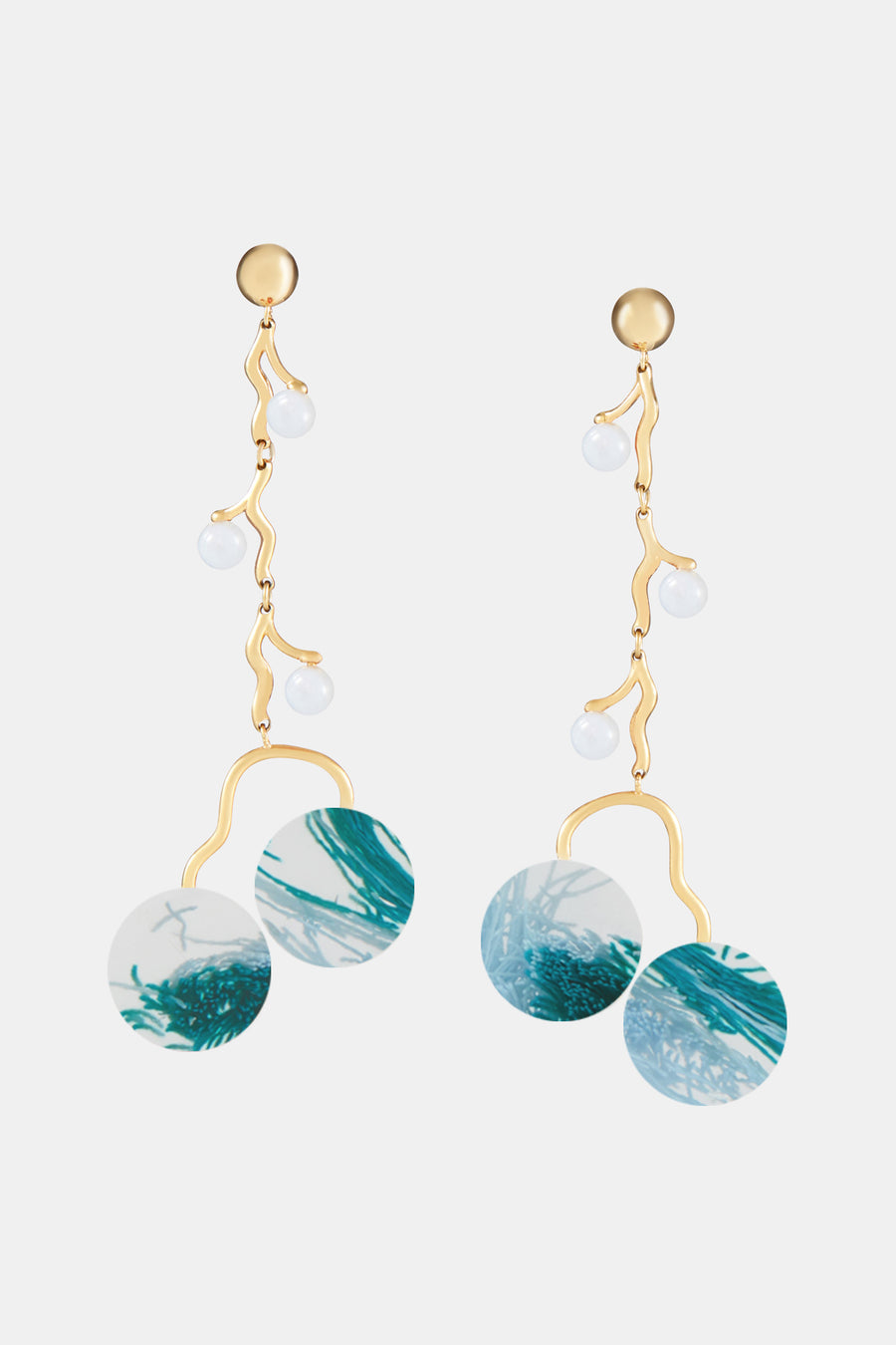 Klint Mobile Earrings Danau & Blue Agate