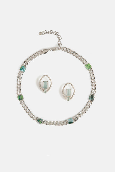 Werveling Earrings & Rippotai Choker Gift Set