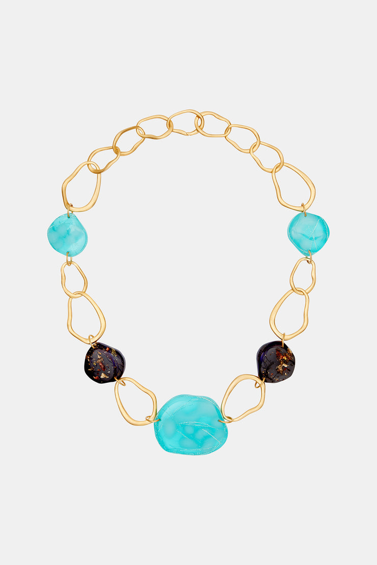 Gold Plated Choker with Resin Pendants