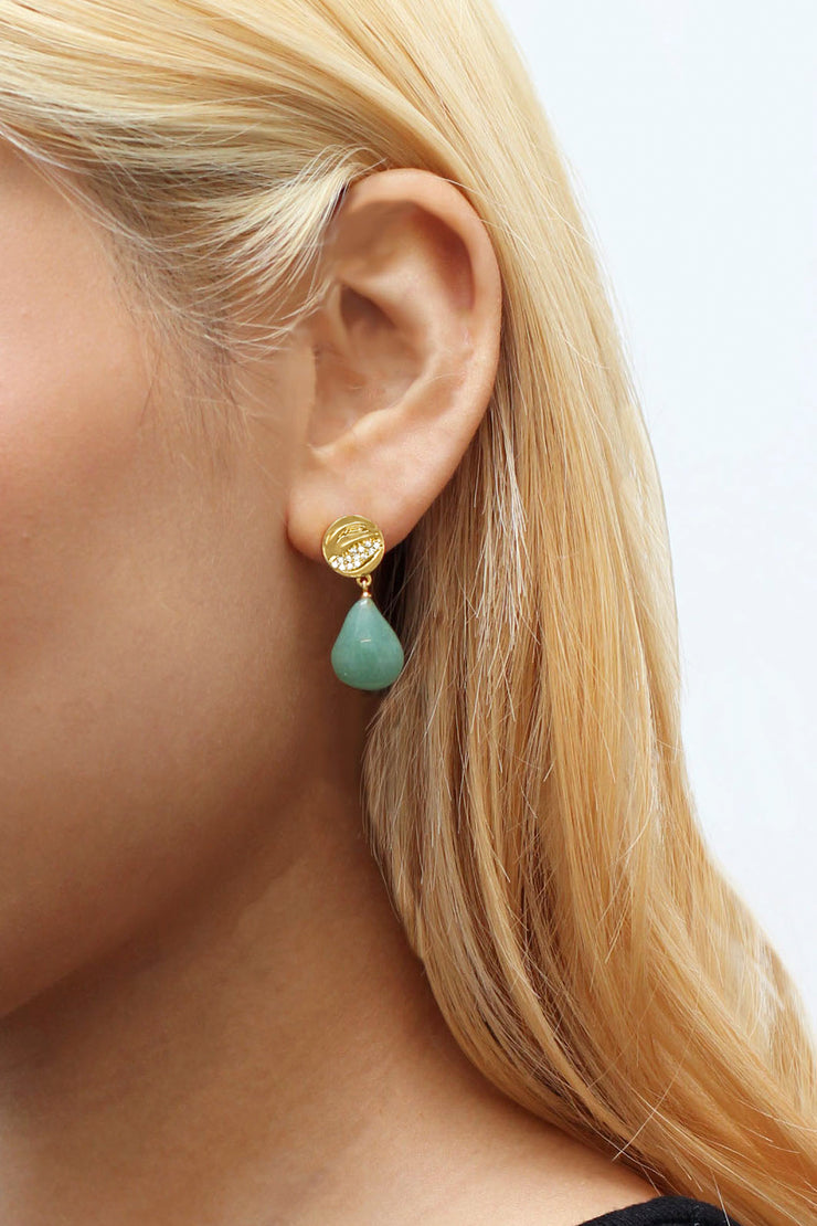 PAYO EARRINGS IN GOLD/ LAUREL