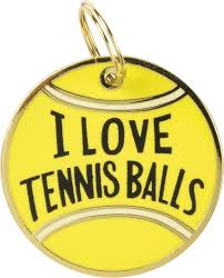 I Love Tennis Balls Pet Charm