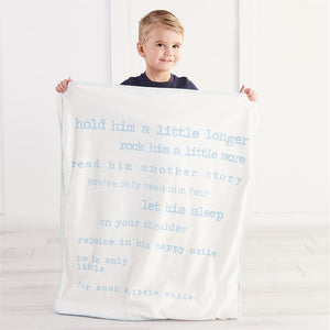 Little Boy Sherpa Blanket
