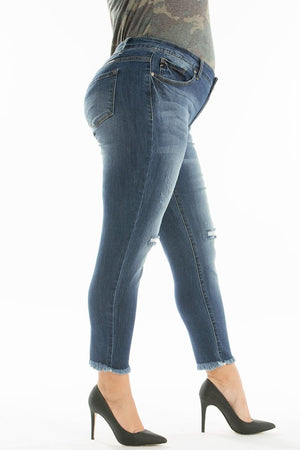 Medium Wash Ankle Skinny Jean