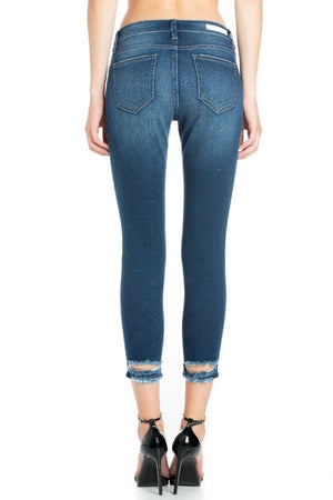 Destroyed Ankle Skinny Medium Wash Jean