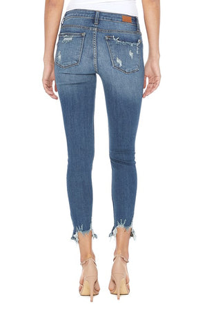 Destroyed Hem Skinny Jean