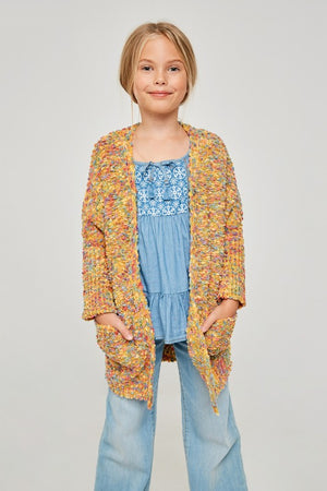 Textured Dolman Sleeve Open Front Cardigan