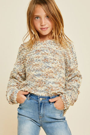 Multicolored Textured Sweater