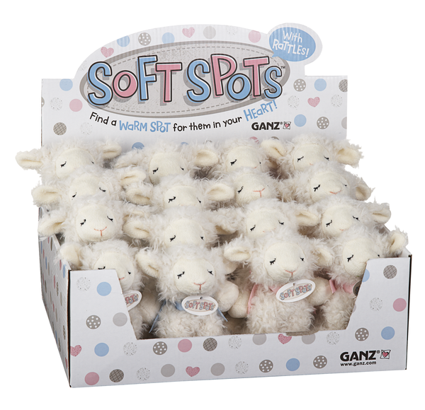 GANZ Soft Spots Sheep with Rattle
