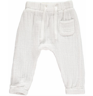 Gauze Jogger Pants in White